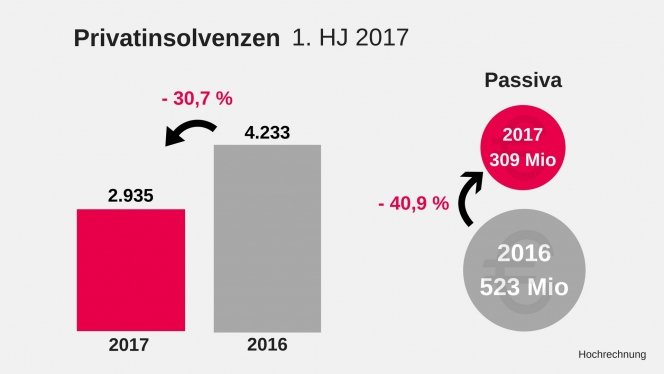 Privatinsolvenzen 1. HJ 2017